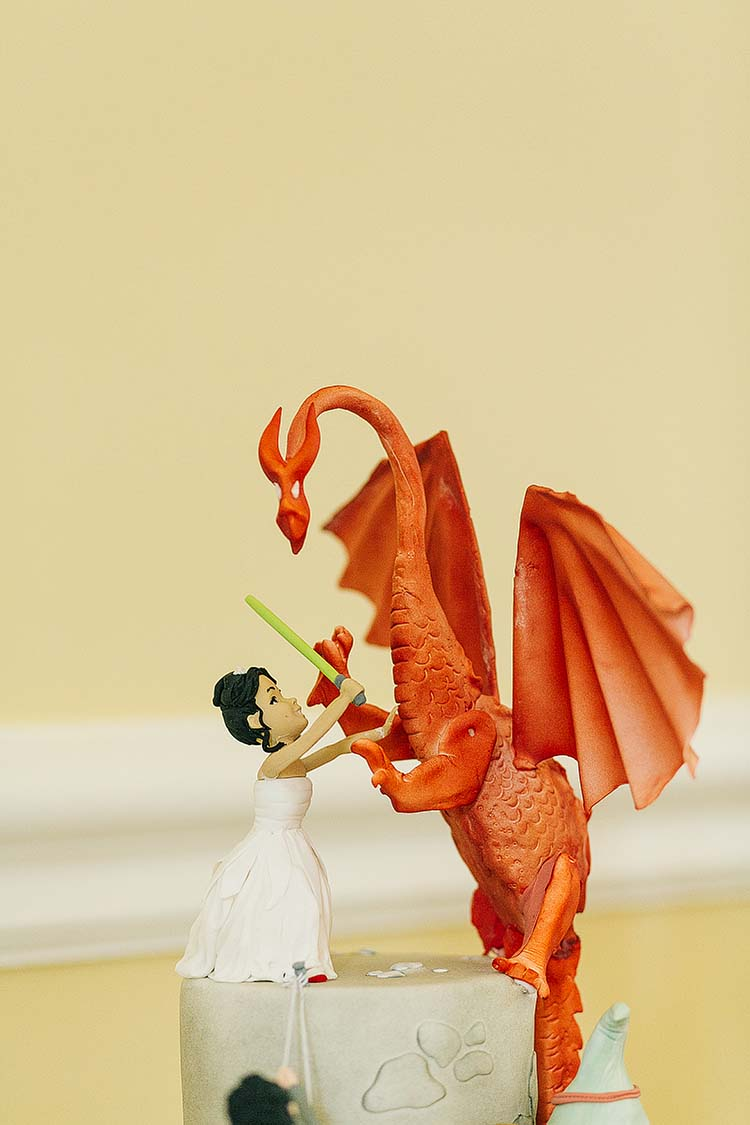 Cake Topper Sci-fi Classic Geeky Castle Wedding http://www.pauljosephphotography.co.uk/