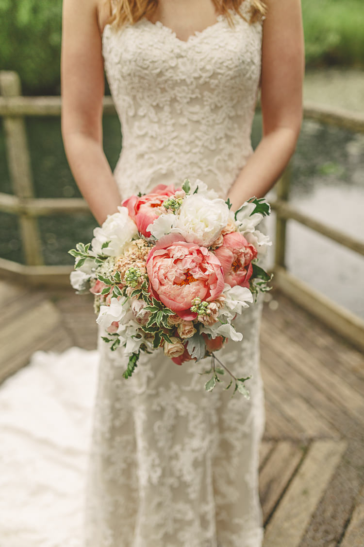 Gorgeous Relaxed Amp Rustic Coral Peony Filled Barn Wedding