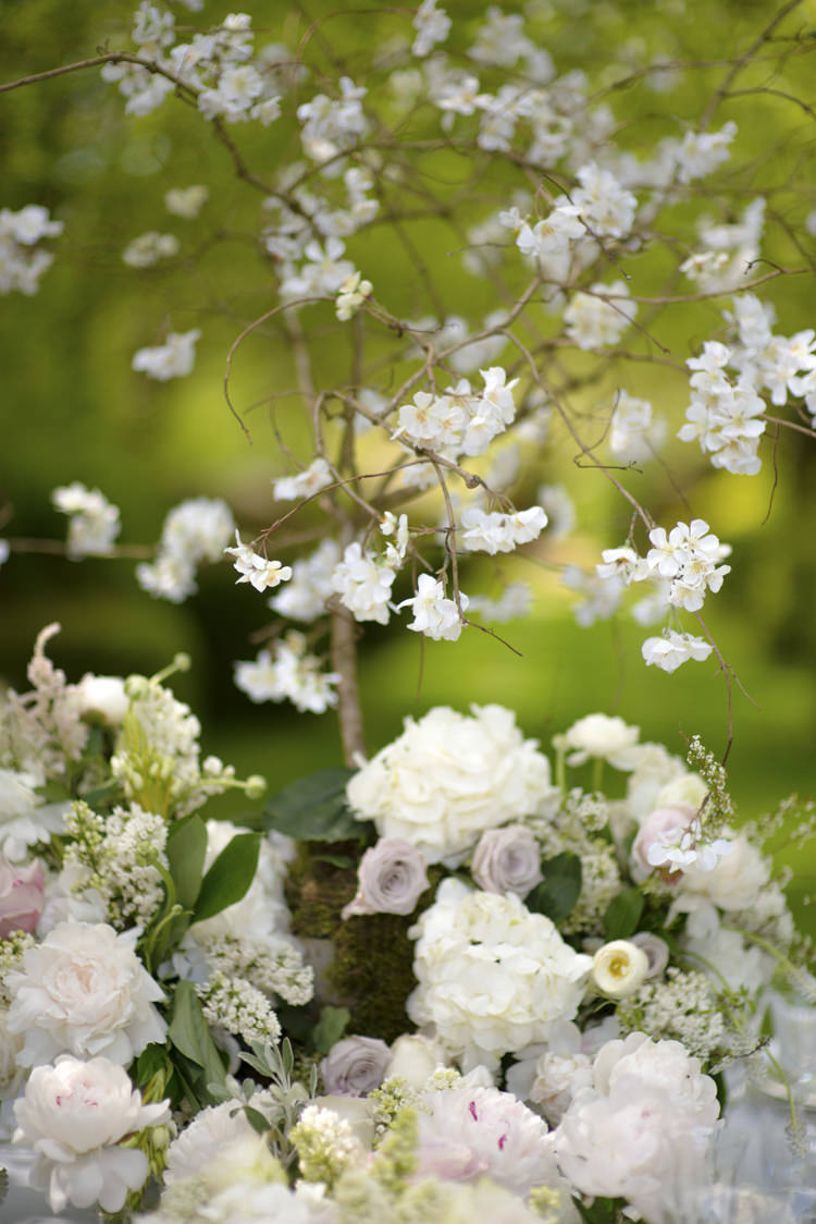 Flowers Pink White Quintessential English Elegant Soft Blush Blossom Wedding Ideas http://careysheffield.com/