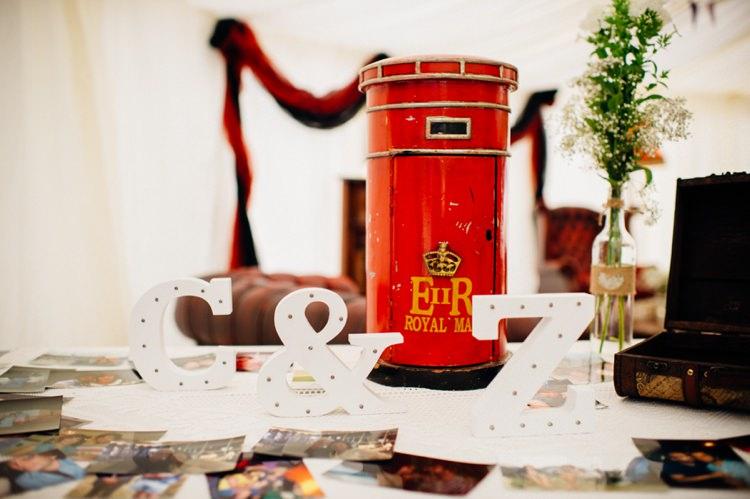 Royal Mail Post Box Cards Garden Music Festival Double Decker Bus Marquee Wedding http://www.mariannechua.com/