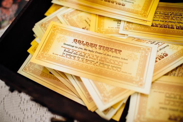 Golden Ticket Sweets Garden Music Festival Double Decker Bus Marquee Wedding http://www.mariannechua.com/