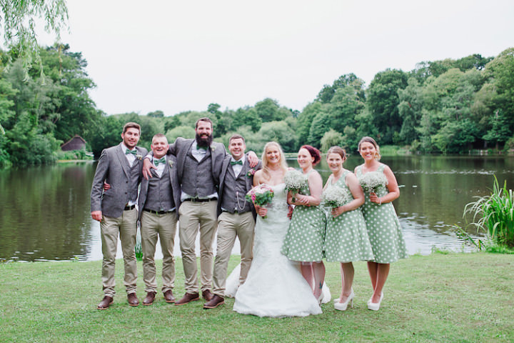 Fresh Country Pink Amp Green Wedding With Tweed Bow Ties