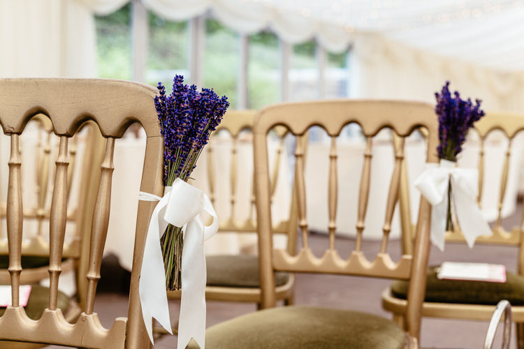 Lavender Ceremony Aisle Chair Flowers Quirky Colourful Pastel Country Fair Wedding http://www.cassandralane.co.uk/