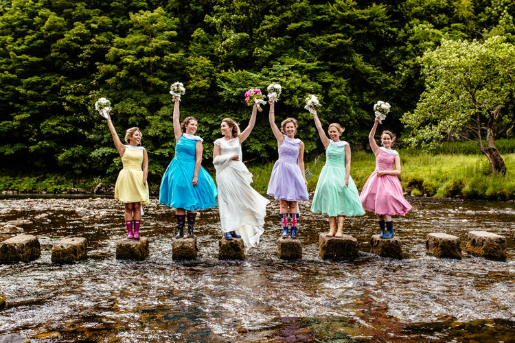 Vintage Prom Dresses Bridesmaids Quirky Colourful Pastel Country Fair Wedding http://www.cassandralane.co.uk/