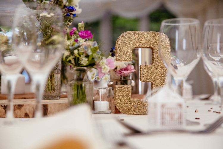 Glitter Table Number Quirky Colourful Pastel Country Fair Wedding http://www.cassandralane.co.uk/