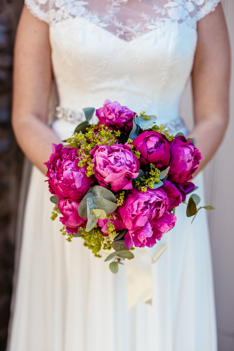 Pink Peony Peonies Bouquet Flowers Bride Bridal Quirky Colourful Pastel Country Fair Wedding http://www.cassandralane.co.uk/