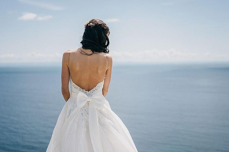 Low Back Bow Dress Gown Bride Bridal Casual Summery Rustic Beach Wild Horses Wedding http://www.jasonmarkharris.com/