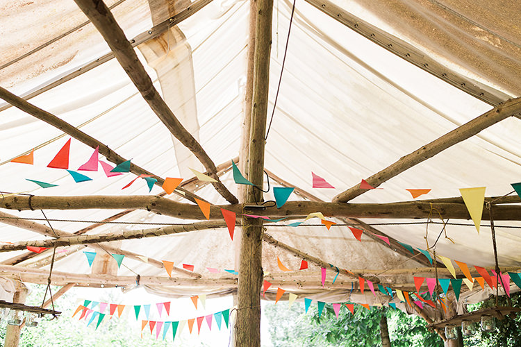 Bunting Multi Colour Indie Hand Made Outdoor Woodland Wedding http://www.ilariapetrucci.co.uk/