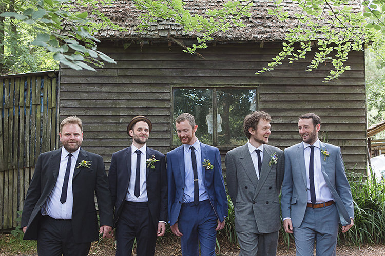 Moss Bros Blue Suit Groom Groomsmen Indie Hand Made Outdoor Woodland Wedding http://www.ilariapetrucci.co.uk/