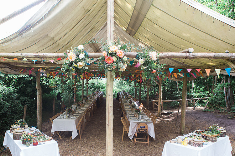 Indie Hand Made Outdoor Woodland Wedding http://www.ilariapetrucci.co.uk/