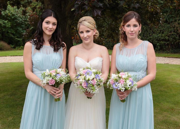 Pastel Blue Bridesmaid Dresses Long Travel Garden Party Farm Marquee Wedding http://sharoncooper.co.uk/