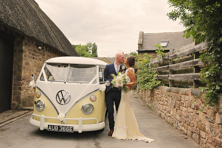 VW Camper Stylish Pastel Rustic Barn Wedding http://helenrussellphotography.co.uk/