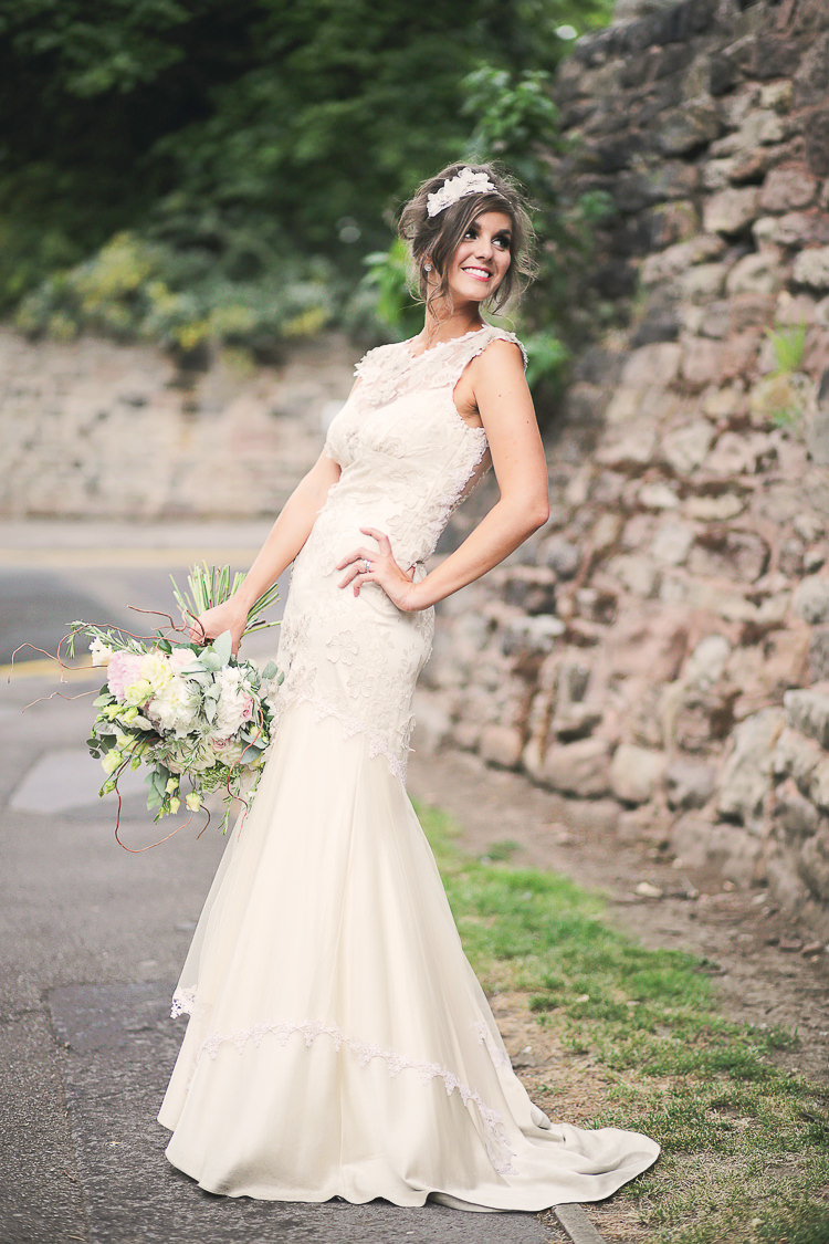 Viola by Claire Pettibone Dress Gown Bride Bridal Stylish Pastel Rustic Barn Wedding http://helenrussellphotography.co.uk/