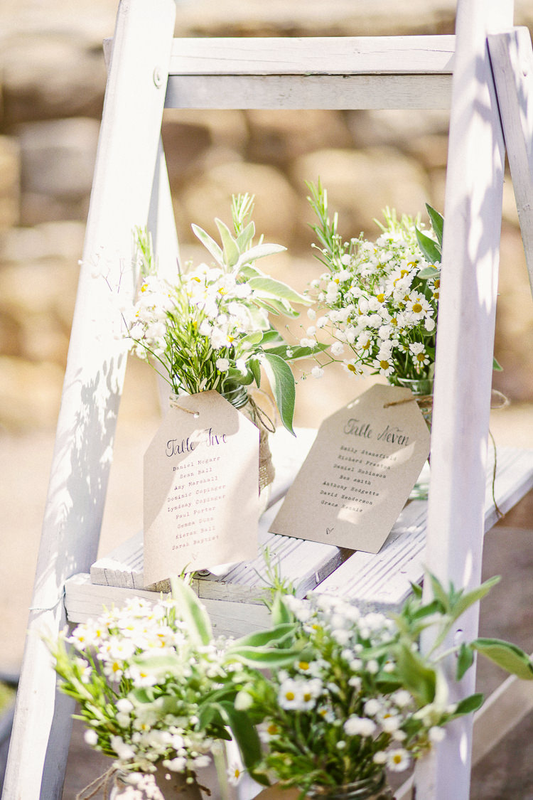 Ladder Seating Table Plan Plants Flowers Chart Rustic Laid Back Tipi Wedding http://helenrussellphotography.co.uk/
