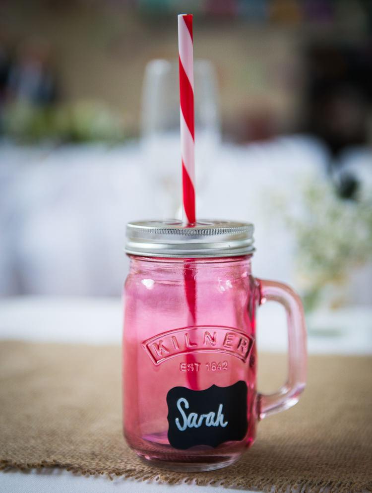 Kilner Jar Drinks Favours Glasses Colourful DIY Village Fete Wedding http://jamesgristphotography.co.uk/blog/