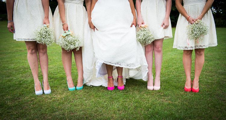 Shoes Bride Bridesmaid Colourful DIY Village Fete Wedding http://jamesgristphotography.co.uk/blog/