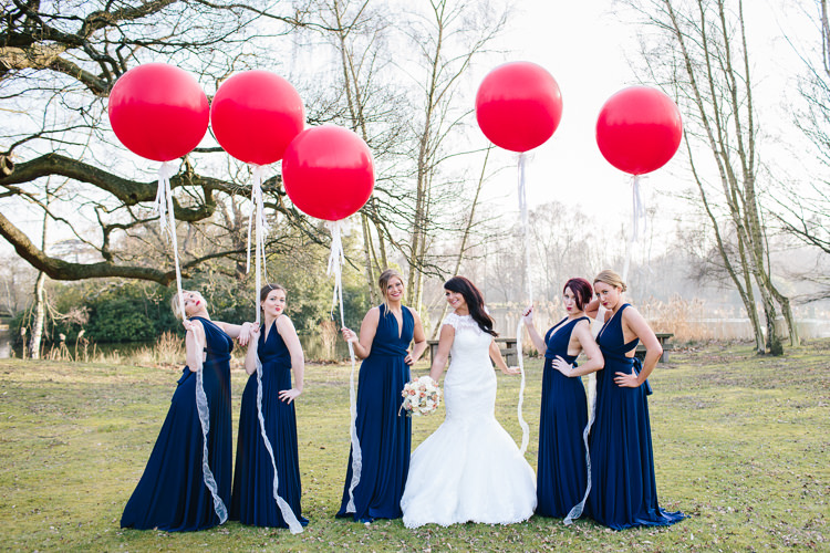 Navy Bridesmaid Dresses Twobirds Long Balloons Chic Hollywood Glamour Wedding http://www.kategrayphotography.com/