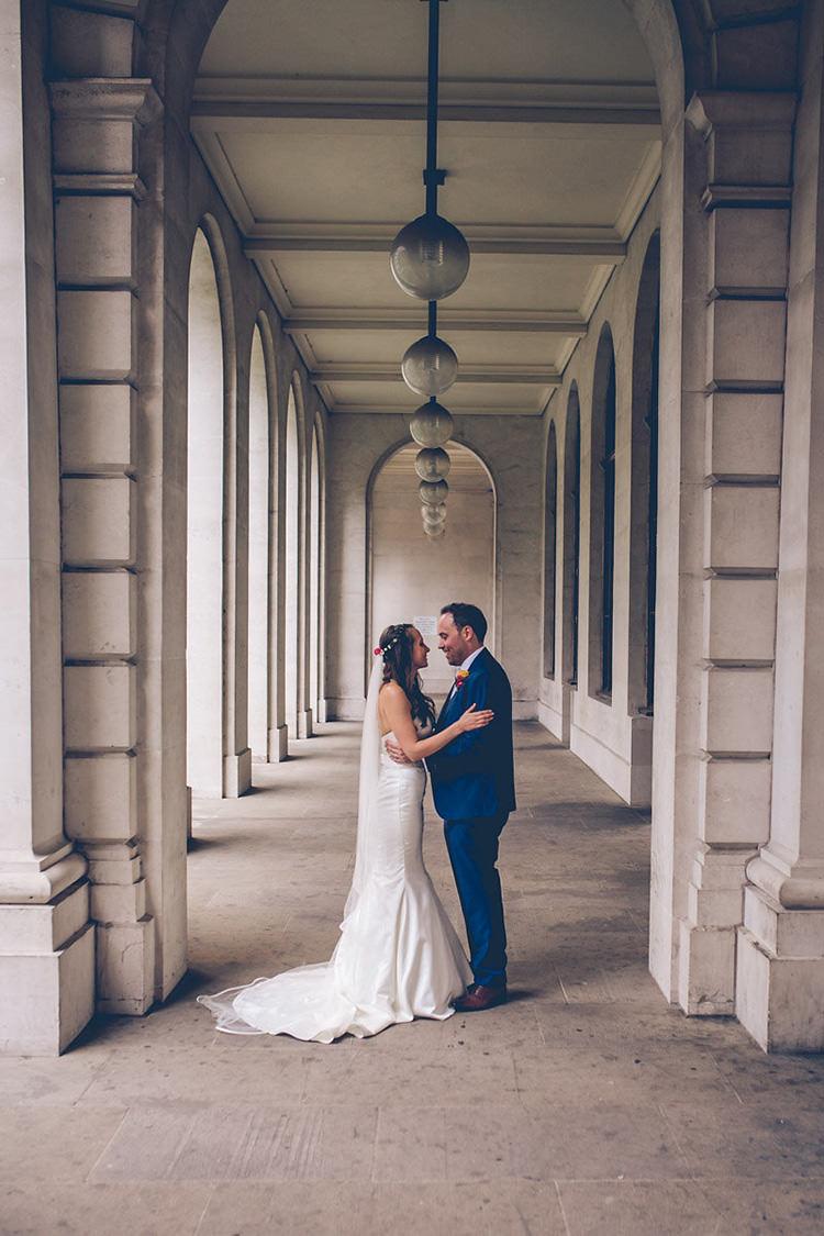 Fishtail Gown Dress Bride Bridal Stella York Colourful Fun London Wedding http://storyandcolour.co.uk/