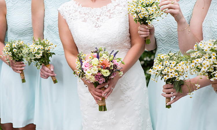 Bridesmaids Daisy Bouquets Flowers Pretty Natural Floral Barn Wedding http://www.johastingsphotography.co.uk/