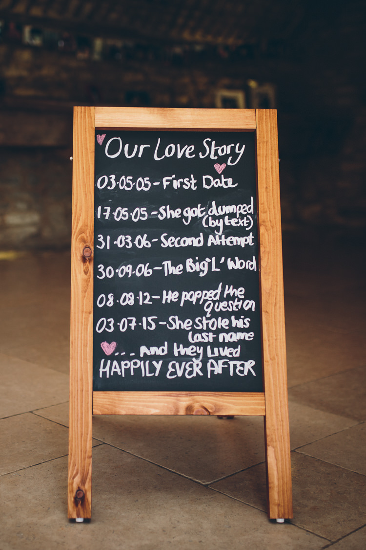 Love Story Sign Chalk Black Board Great British Tea Party Wedding http://www.kategrayphotography.com/