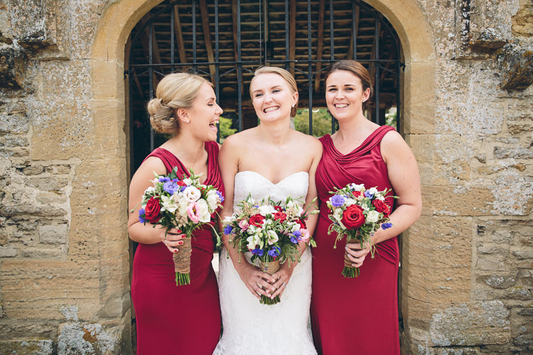 Red Bridesmaid Dresses Great British Tea Party Wedding http://www.kategrayphotography.com/