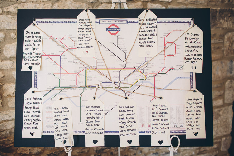 Underground Train Tube Station Map Seating Table Plan Chart Great British Tea Party Wedding http://www.kategrayphotography.com/