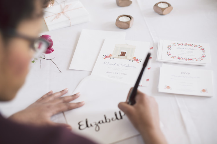 Calligraphy Stationery Invitations Spring Time Chic Wedding Ideas http://graceelizabethphotography.com/