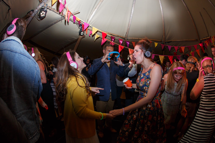 Silent Disco Country Fete Garden Festival Wedding http://sharoncooper.co.uk/