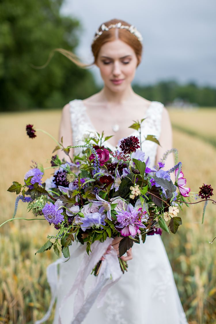 Natural Amp Ethereal Purple Floral Wedding Whimsical