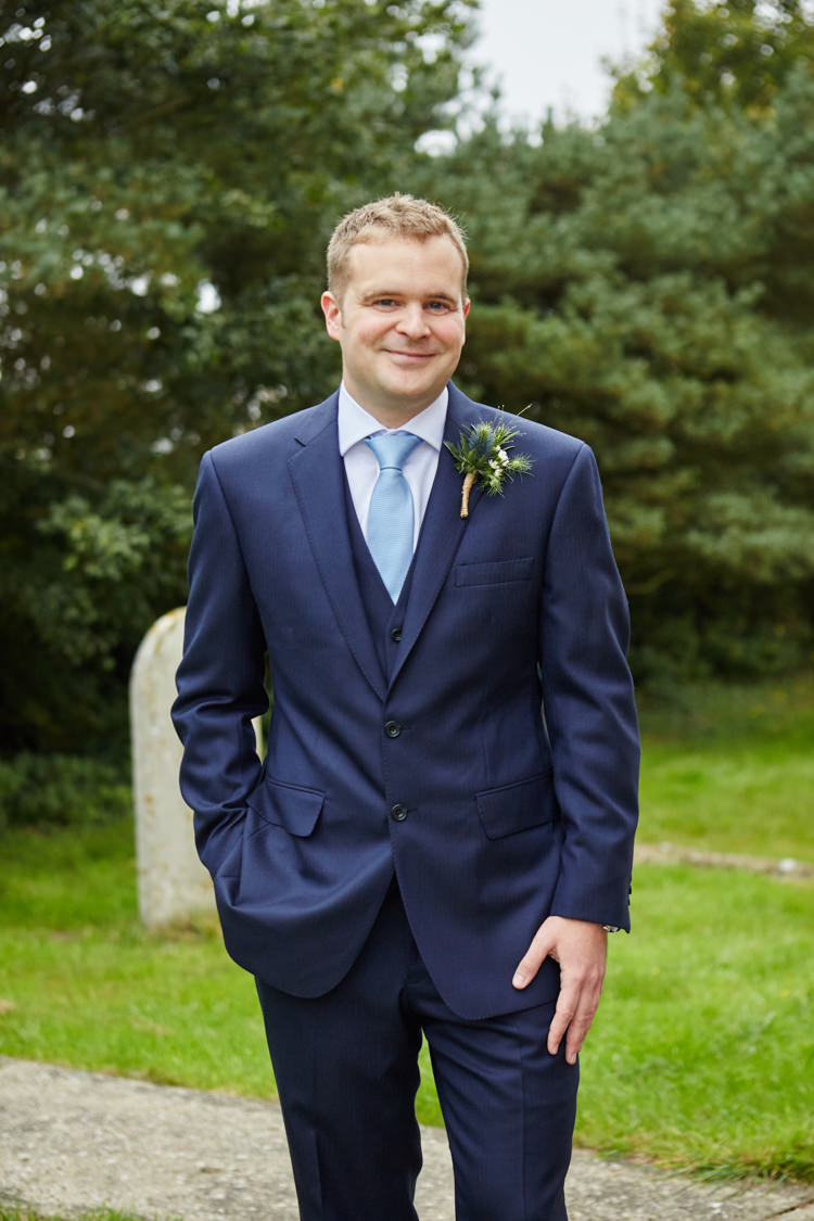 Navy Suit Groom Blue Tie Industrial Country Rustic Wedding https://www.fullerphotographyweddings.co.uk/