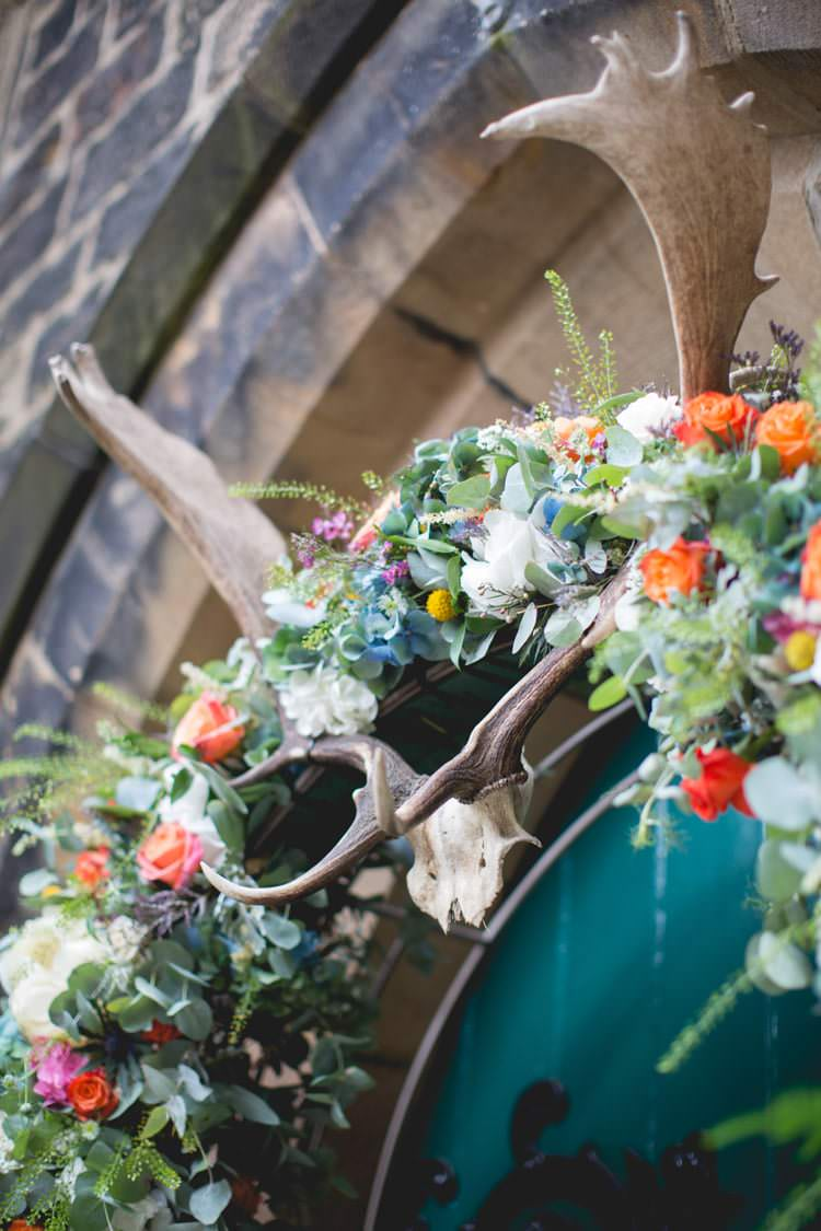 Flower Arch Church Antlers Family Farm Festival Wedding https://amylouphotography.co.uk/