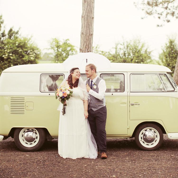 VW Camper Mismatched Fairground Woodland Wedding http://www.rebeccaweddingphotography.co.uk/