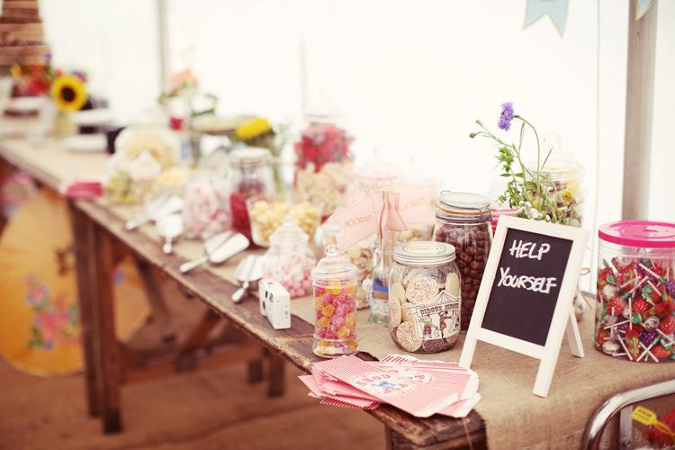Sweet Sweetie Table Mismatched Fairground Woodland Wedding http://www.rebeccaweddingphotography.co.uk/