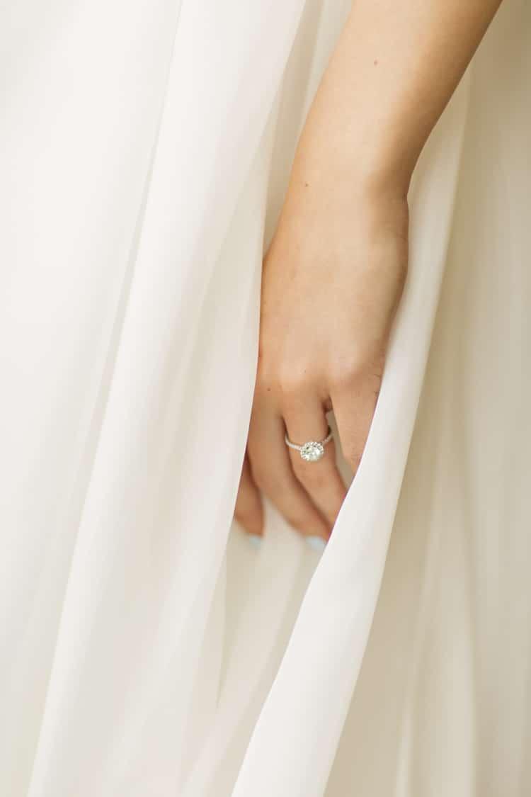 Bride Round Diamond Engagement Ring Blue Nails Bridal Elegant Classic Outdoor Wedding Washington http://www.courtneybowlden.com/
