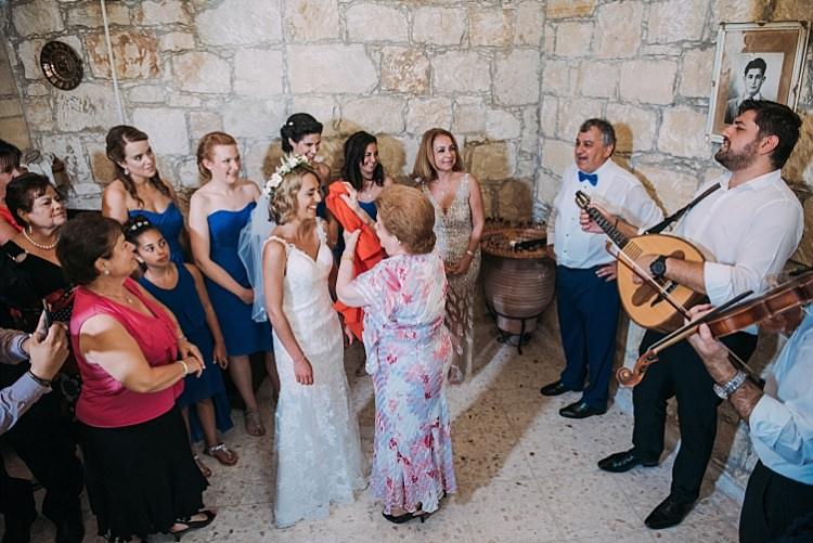 Bride Stella York Lace Gown Flower Crown Family Beautiful Traditional Greek Destination Wedding in Cyprus http://www.jonnybarratt.com/