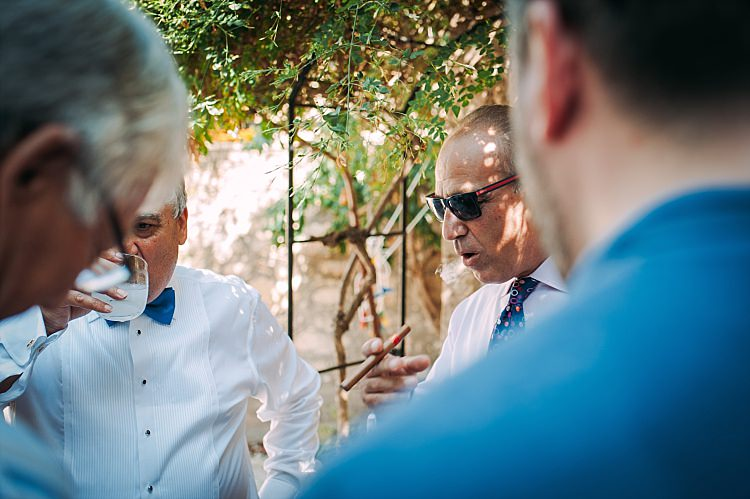 Family Drinks Cigars Beautiful Traditional Greek Destination Wedding in Cyprus http://www.jonnybarratt.com/