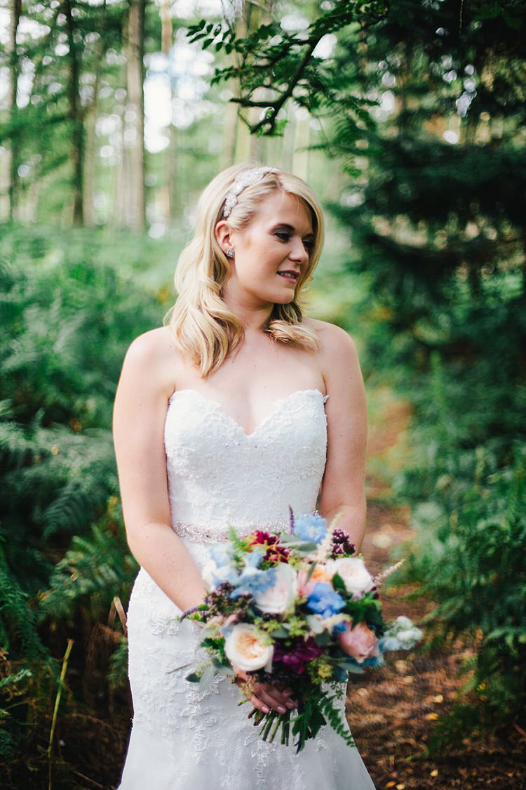 Ronald Joyce Dress Bride Bridal Gown Strapless Lace Rustic Woodland Floral Wedding http://kellyjphotography.co.uk/