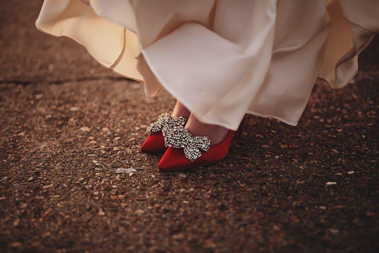 Red Shoes Clip Bride Bridal Rainbow Club Free Spirited Beautiful Beach Wedding https://www.paulfullerkentphotography.com/