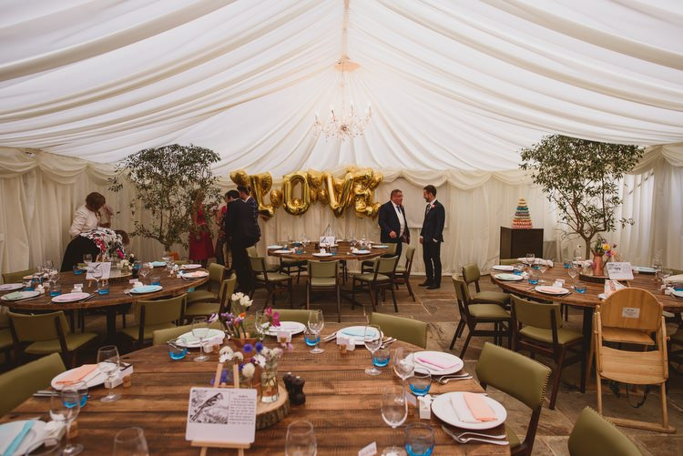 Marquee Giant Gold Love Balloons Crafty Botanical Natural Wedding http://www.jacksonandcophotography.com/