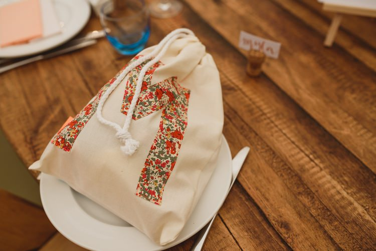 Tote Draw String Bag Personalised Favour Crafty Botanical Natural Wedding http://www.jacksonandcophotography.com/