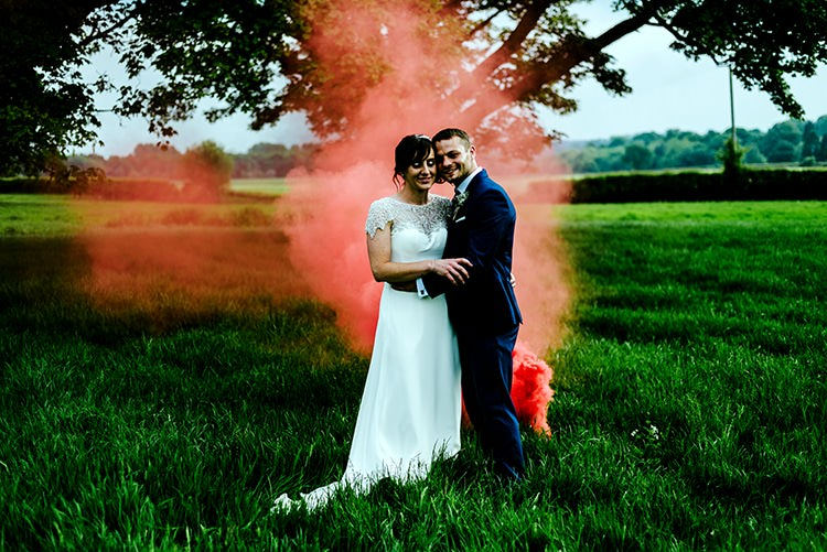 Smoke Bomb Rustic Relaxed Country Garden Wedding http://www.dmcclane.com/