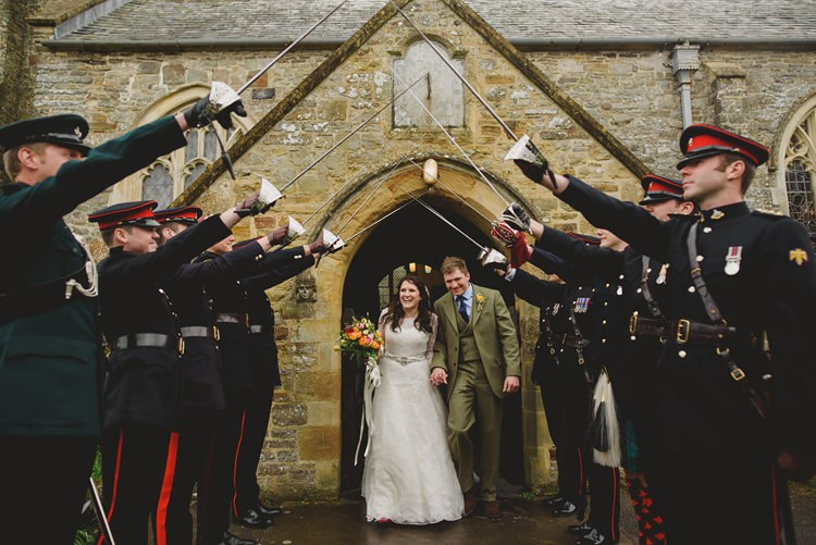 Sword Arch Bride Groom Exit Church Military Army Indie Rustic Beach Marquee Wedding http://www.abiriley.co.uk/