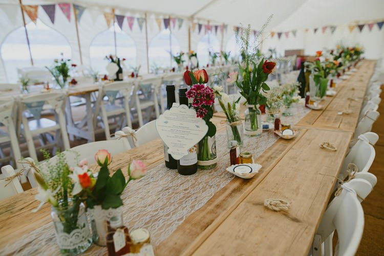 Tables Long Lace Indie Rustic Beach Marquee Wedding http://www.abiriley.co.uk/