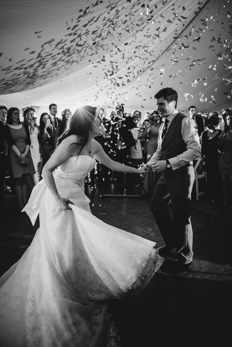 Confetti Cannon Indie Rustic Beach Marquee Wedding http://www.abiriley.co.uk/
