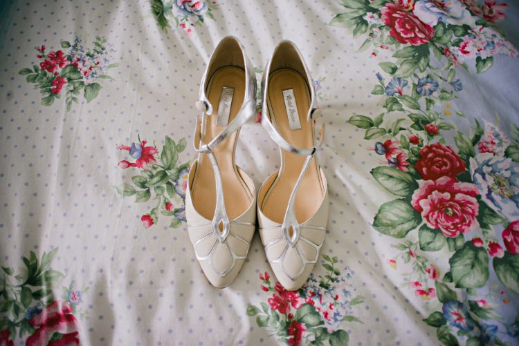 Rachel Simpson T Bar Shoes Bride Bridal Beautiful Bicycle Country Marquee Wedding http://www.emmabphotography.com/