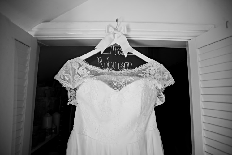 Custom Dress Gown Hanger Beautiful Bicycle Country Marquee Wedding http://www.emmabphotography.com/