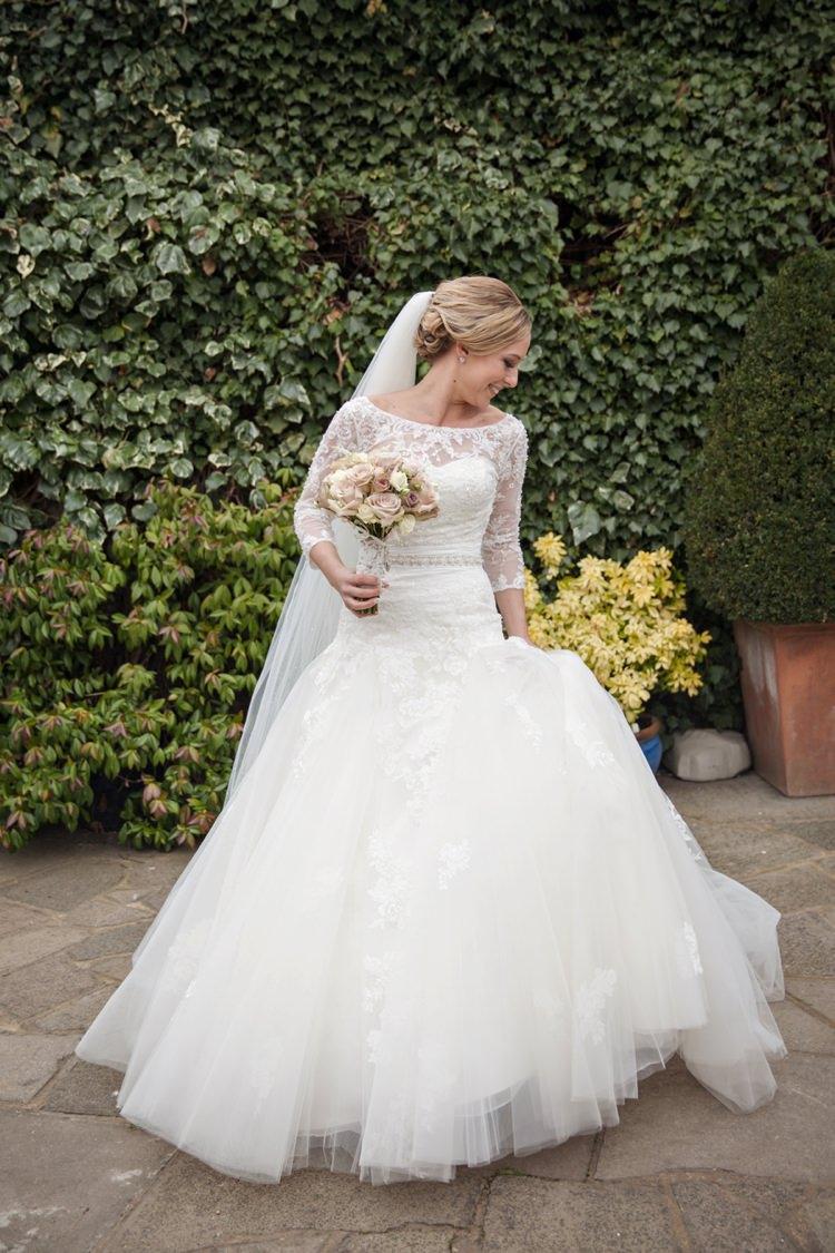 Enzoani Dabra Dress Gown Bride Bridal Cosy Winter Barn Wedding http://kerryannduffy.com/