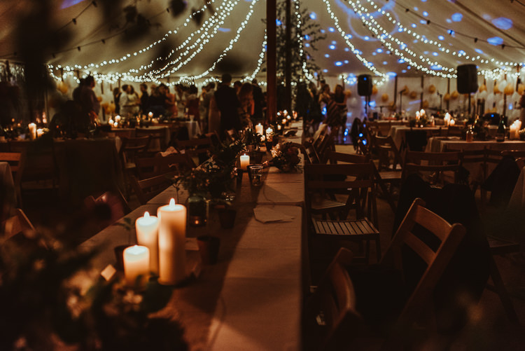 Fairy Lights Candles Beautiful Stylish Country Marquee Wedding http://jesssoperphotography.com/