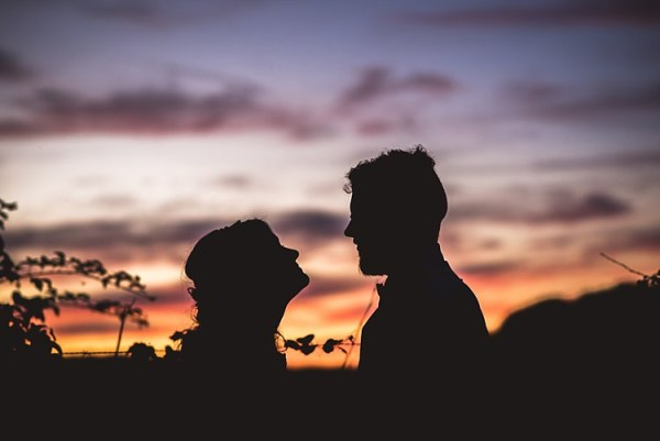 Bride Groom Sunset Silhouette Smiles Ethereal Boho Wedding Ideas http://perfectcapturephoto.com/
