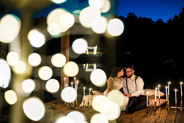 Bride Groom Candle Sticks Fairy Lights Patterned Cushions Ethereal Boho Wedding Ideas http://perfectcapturephoto.com/
